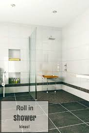 looking for roll in shower ideas check this out a single level