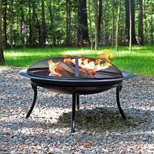 Outdoor Table With Firepit by Sunnydaze 29 U201d Portable Folding Fire Pit With Case