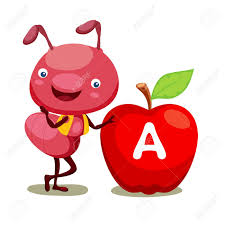apple clipart ant pencil and in color apple clipart ant