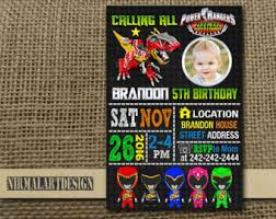 power ranger card etsy