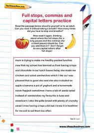 full stops commas and capital letters practice by theschoolrun