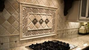 backsplash ideas astonishing tile backsplash medallion bronze