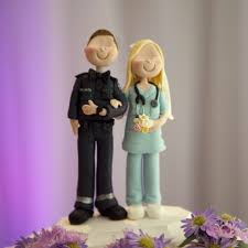 wedding cake topper paramedic and nurse by little people