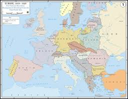 World War 2 In Europe And North Africa Map by Europe After The Treaty Of Versailles 1919