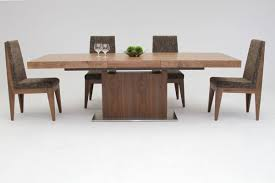 decorating wooden dining table and chic chairs by dania furniture