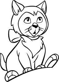 a coloring page of a cat virtren com