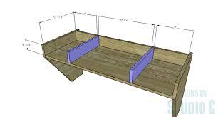 how to build a floating desk wide floating desk dividers designs by studio c