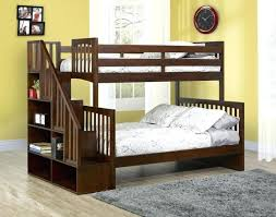 Wooden Bunk Bed With Stairs Stair Bunk Bed Canalcafe Co