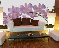 Home Interior Wall Hangings Murals For Walls Orchid Wall Murals For Modern Wall Decor Orchid