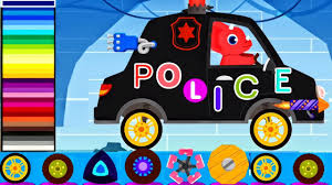 monster truck videos for toddlers dinosaur cars cartoons truck driver monster truck police car