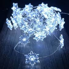 snowflake string lights silver plated copper wire 10