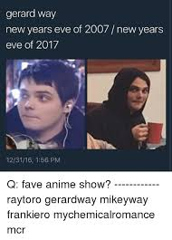 Gerard Way Memes - gerard way new years eve of 2007 new years eve of 2017 123116 156