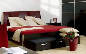 Red Black And White Bedroom Decorating Ideas Bedroom Astonishing Rectangular Red Headboard And Red Wood Frame
