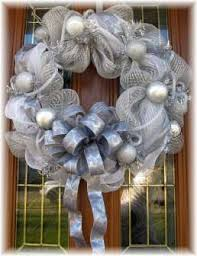 christmas mesh wreaths silver deco mesh wreaths for christmas decoration