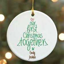 newlywed newly engaged christmas ornaments christmas tree