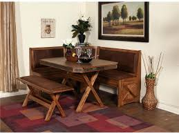 beautiful dining room table with storage bench set dinette corner