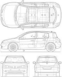 2005 renault megane hatchback blueprints free outlines