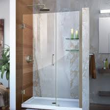 Diy Frameless Shower Doors Dreamline Unidoor 48 X 72 Hinged Frameless Shower Door Trim