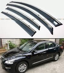 nissan altima 2016 trims clip on type smoke window visor w chrome trim for 2013 15 nissan