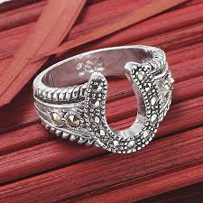 bling home decor marcasite horseshoe ring western wear equestrian inspired