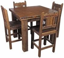 wood counter height table rustic old wood dining furniture bars