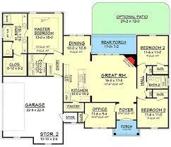 plan 11797hz split bedroom house plan with open floor plan