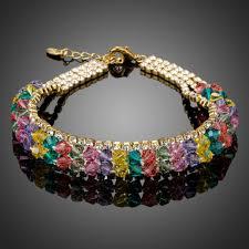 luxury bracelet images Very sparkly multicolor crystals bracelet jewelryvo store jpg