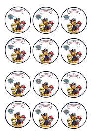 paw patrol u2013 cupcake toppers u2013 birthday printable
