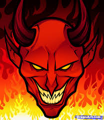 Halloween Pics To Draw How To Draw A Devil Face Step By Step Concept Art Fantasy Free