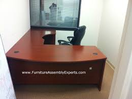 bush executive l shaped desk sold by office depot installed in Office Depot L Shaped Desk