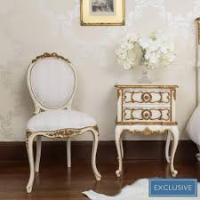 White Bedroom Chair Uk Palais Ivory U0026 Gold French Chair Bedroom Chair