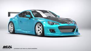 subaru brz custom body kit ml24 2013 2016 subaru brz version 2 wide body kit automotive