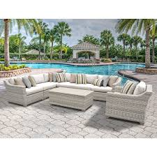 Discount Wicker Patio Furniture Sets Fairmont 8 Piece Outdoor Wicker Patio Furniture Set 08d Free