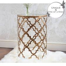 Quatrefoil Console Table Quatrefoil Metal Side Table Metal Side Table Quatrefoil And Metals