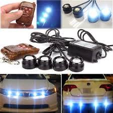 led strobe light kit 4in1 12v hawkeye led car emergency strobe lights drl wireless remote