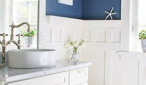 navy blue bathroom ideas white and navy blue boy bathroom with white beadboard trim navy