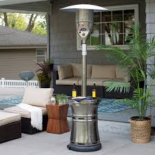 Patio Heater Heat Shield by Red Ember Hammered Bronze Commercial Patio Heater With Table