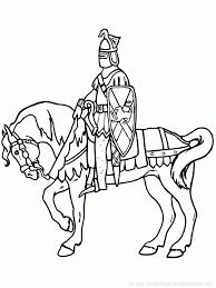 coloriage à imprimer coloriage chevaliers 006