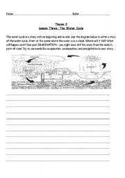 esl worksheets for beginners water cycle story