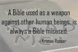 the bible is not a weapon the relentless pursuit