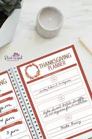 the free thanksgiving planner every busy needs pint sized