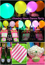 Neon Themed Decorations Glowing Dance Party Ideas Favors Dancing And Activities