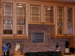 wood and glass cabinet beautify the kitchen by using corner cabinet glass doors modern