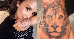 demi lovato denies u0027copying cara delevingne u0027 with bold new lion