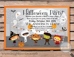 Halloween Costume Party Invitations 22 Cute Kids Halloween Invitations Images