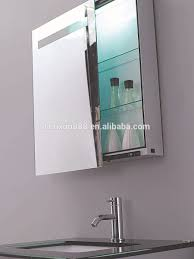 Led Bathroom Mirrors Homcom Led Bathroom Mirror Cabinet 70x50x155 Cm Aosomcouk Benevola