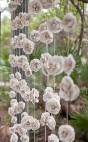 wedding backdrop garland curtain of 12 garlands paper flowers roses garland backdrop from