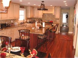 Kitchen Island With Columns New Cabinets Custom Hardwood Floors By Jeffries