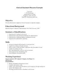 clerical resume templates clerical resume template clerical resume for clerical resume