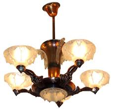 Copper Chandeliers Petitot Deco Copper Chandelier With Ezan Glass Chandeliers
